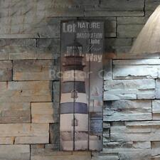 Nautical Decor Rustic Wood Sign Plaque Wall Art Picture Lighthouse Design #B