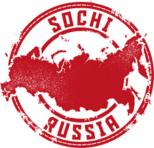 "Sochi Russia Map Travel  Stamp Car Bumper Sticker Decal 5"" x 5"""