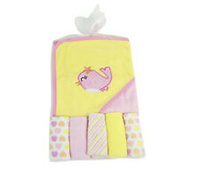 Baby Towel Hooded Baby Towel Animal wih Five Wash Cloths First Steps