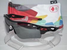 OAKLEY CANADA OLYMPICS Radarlock Path Sunglasses OO9181-28 POLISHED BLACK IRIDIU