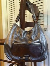 Michael Kors collection Anthracite Tonne SHOULDER BAG Hobo Authentic NWT 1298.00