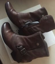 New Miz Mooz Evelyn Chestnut Women's 8 -38- M Ankle Brown Zip Boots