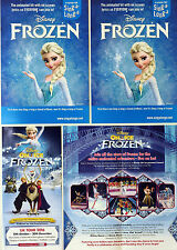 4 X FLYERS: DISNEY ON ICE FROZEN 2016 & SING-A-LONG-A-FROZEN 2014