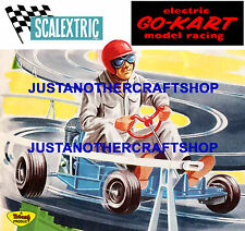 Scalextric 1964 Go Kart Large Size Poster Advert Shop Sign Artwork - fantastic!