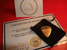 24ct Gold Plated Music Rock Fender Guitar Pick/Plectrum Thin Gauge + Gift Bag