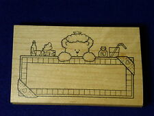 DARCIES Bear V-3506 Get Well sick RX Bandaid project window card Rubber Stamp