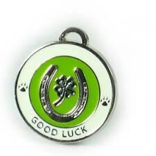 """Good Luck Medallion - Lucky Clover -  Dog Cat Pet Charm - 3/4"""""""