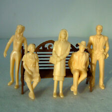 20pcs G Scale 1:30 Unpainted Model Train People Figures (1:30) Toy