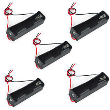 5x Plastic Battery Holder Case Storage Box for 1x 18650 Battery with Wire Leads