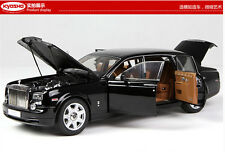 Black Kyosho 1/18 EWB Rolls-Royce Phantom Alloy Diecast Limited Car Models 08841