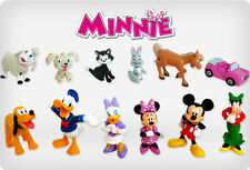 NEW Disney's Minnie Mouse Mickey Clubhouse Set Of 12 Figures Cake Toppers