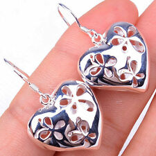 Precious Hollow Out Heart Fashion 925 Sterling Silver Earrings Jewelry H908