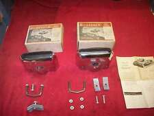 Vintage 1950's NOS Bumperex Deluxe Bumper Exhaust Extensions Lead Sled Custom PR