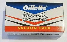10 X GILLETTE WILKINSON SWORD STAINLESS STEELE DOUBLE EDGE SAFETY RAZOR BLADES