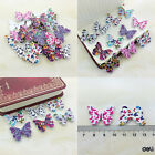 20/50/100Pcs Bulk Stylish Butterfly Wooden Sewing Buttons Scrapbooking 2 Holes