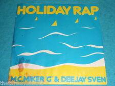 "VINYL 7"" SINGLE - MC MIKER & DEEJAY SVEN - HOLIDAY RAP - DEBT 3008"