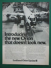 10/1978 PUB LOCKHEED P-3C ORION UPDATE III ASW MARITIME PATROL AIRCRAFT AD