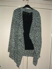 **STELLA** @ TESCO -LONG SLEEVE EMBELLISHED CARDIGAN-SALT & PEPPER-8/10-NEW
