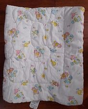 Vintage JACK and JILL DUTCH WINDMILL BABY Bed Blanket COMFORTER QUILT Boy Girl