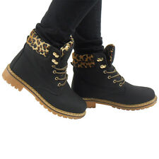 WOMENS LADIES ARMY COMBAT WORKER FLAT LACE UP CELEB ANKLE  BOOTS BOOIES SIZES