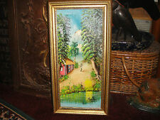 Superb Haitian Or Cuban Oil On Canvas Painting-Signed Capellias?-Island Scene