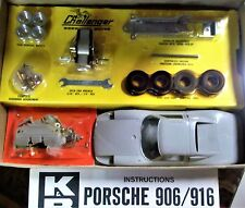 K&B VINTAGE 1/24 1/25 NEW PORSCHE 906/916 SLOT CAR CHASSIS, BOX, & INS COX AMT