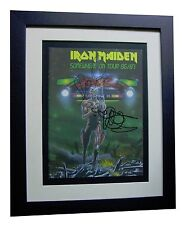 IRON MAIDEN+SIGNED+FRAMED+SOMEWHERE+LIVE+UNIQUE=100% AUTHENTIC+FAST GLOBAL SHIP