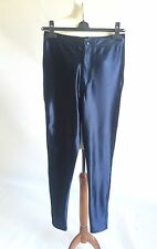 BNWT Fenchurch Blue Shiny High Waist Lurex Disco Pants Glamour RRP £22 Size M