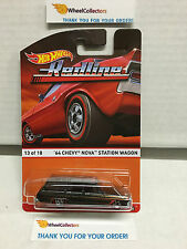 '64 Chevy Nova Station Wagon #13 Redline  * Hot Wheels 2016 Heritage Case F