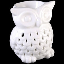 SNOWY WHITE OWL CERAMIC OIL BURNER FOR WAX TARTS Simmering Granules