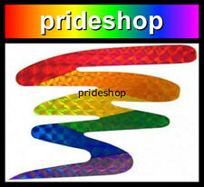 Rainbow Squiggle Holographic Adhesive Decal Sticker Lesbian Gay Pride #297