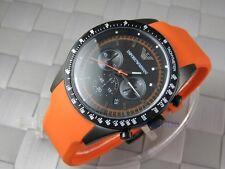 Emporio Armani AR-5987, Orange Rubber Strap Men's Chronograph Watch