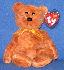 TY GRIZZWALD the BEAR BEANIE BABY - MINT with NEAR MINT TAG