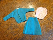 VINTAGE BARBIE SIZED CUT & SEW SKIRT JACKET & TOP OUTFIT EXC-NM