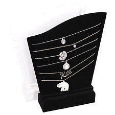 6 NECKLACE HOLDER DISPLAY SHOWCASE DISPLAY STAND JEWELRY BLACK PENDANT STAND