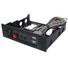 "5.25"" front Bay Module with USB Port, LED, Reset Button, Power Switch.ECR9400USB"