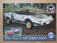 Hawk Cars Ltd HF 2000 y 3000 Orig 2000UK MKT prospecto Folleto-Lancia Stratos