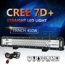 "7D 20""INCH 450W CREE LED WORK LIGHT BAR Tri-Row fit for JEEP Ford SUV VS 19/22"""