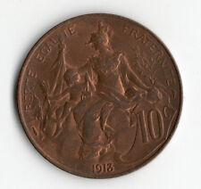 QUALITE RARE : 10 CENTIMES DUPUIS EN BRONZE DE 1913 QUALITE SUPERBE @ PROMO !!