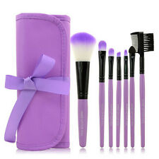 7PCS Makeup Brush Set Toiletry Kit Make Up Brush Case Cosmetic Foundation Brush