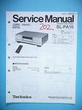Service Manual für Technics SL-PA10 CD-Player,ORIGINAL