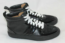 Bally 'Hervey' Leather High Top Sneaker - Black w/ White Laces - Size 9.5D (R41)