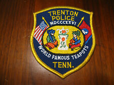 TRENTON TENNESSEE POLICE PATCH (WORLD FAMOUS TEAPOTS)