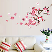 Flower Wall Sticker Cherry Peach Blossom Removable Wall Decal Home Decor USA
