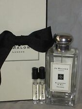 NIB Jo Malone cologne 3.4oz/100ml BLACKBERRY & BAY Cologne Spray + 2 sample vial