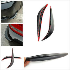 Two Pcs Black Auto Front Bumpers Streamlined Anti-Rub Strips 3M For Mitsubishi