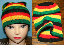 "Mens Womens Hatch Beanie Beny Hat ""BENNY"" Fashion Style Knit Rasta Colours!"