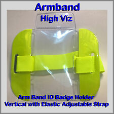 High viz lumineux arm band id badge holder