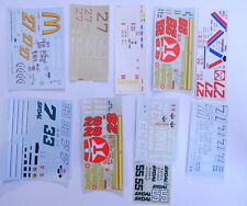 Lot of 10 Unused Nascar Model Car Kit DECALS R12997