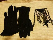 pour manteau ,veste ,théatre ou look vintage???? des gants noirs et perles noir